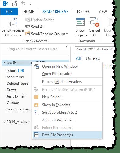 How do I make an Outlook PST file smaller? - Ask Leo!