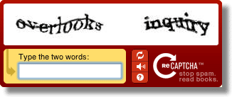Distorted Words CAPTCHA