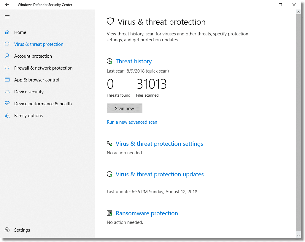 Where is Windows Defender's Vault? - Ask Leo!