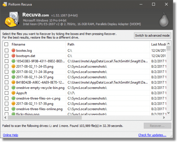 Recuva: a Free, Easy Undelete and File Recovery Tool - Ask Leo!
