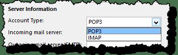 POP versus IMAP selection
