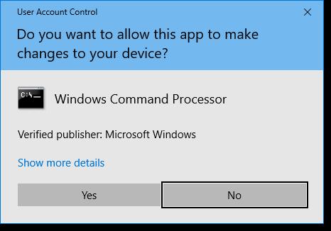 Windows 10 UAC