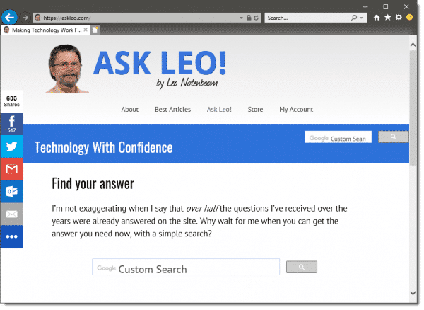 How Do I Get My Web Browser's Menu and Toolbar Back? - Ask Leo!