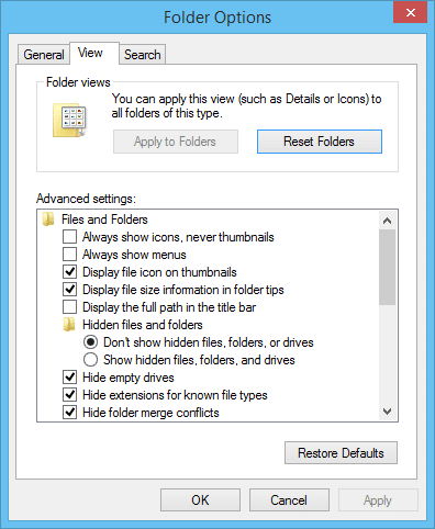 How do I get Windows File Explorer to display details by