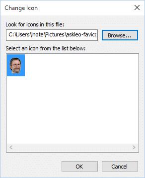 Choose Custom Icon