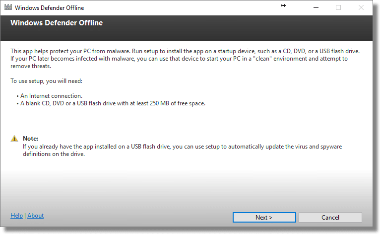 Windows Defender Offline - Scan Your Computer for Malware Without