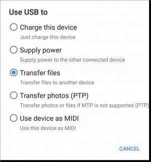 USB Options