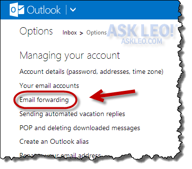 How Do I Automatically Forward Hotmail In Outlook