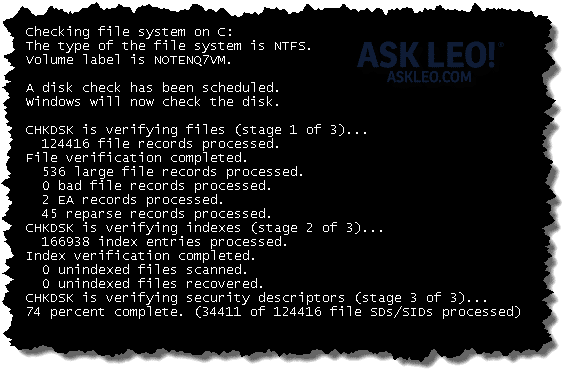 Checking and Repairing a Disk with CHKDSK - Ask Leo!