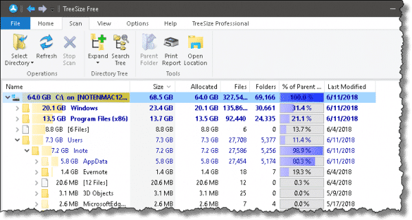 winsxs temp windows 10