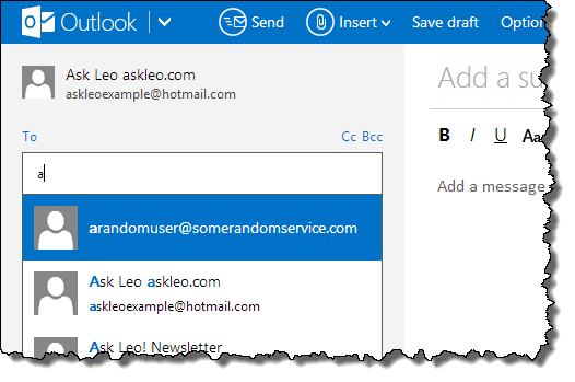 How Do I Use and Clear Outlook com Contacts and Auto