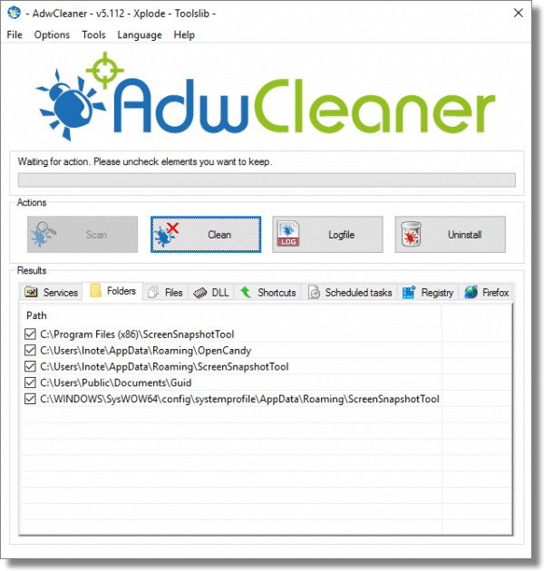 AwdCleaner Finding Lots of Folders