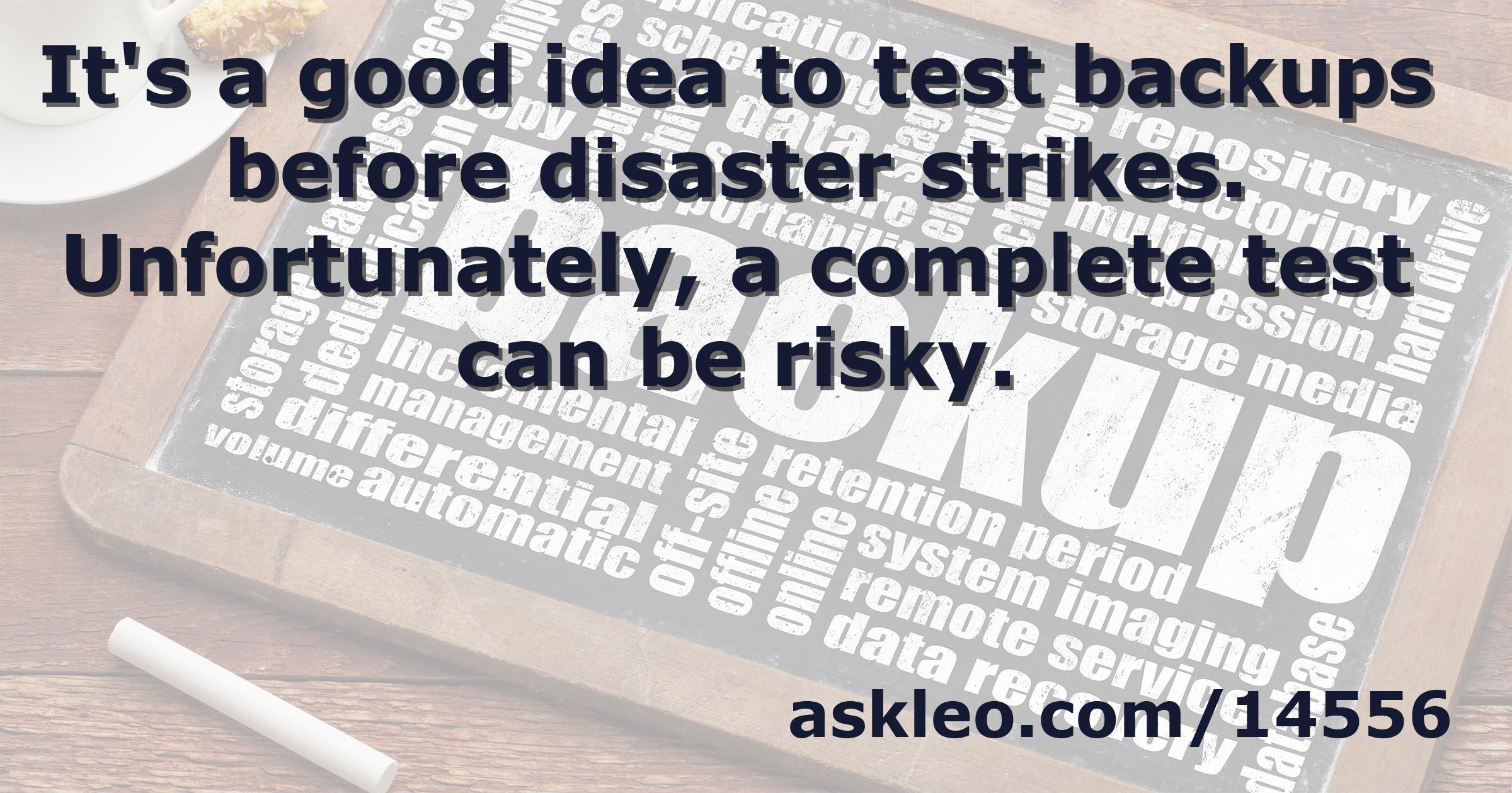 How Do I Test Backups? - Ask Leo!