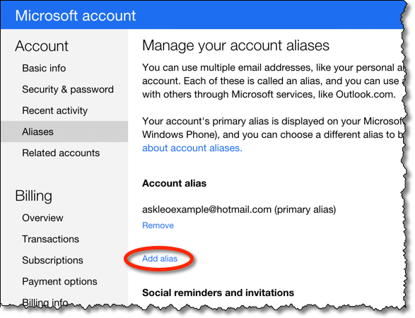 address e find hotmail mail