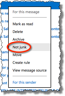 How Do I Stop Outlook com from Putting Legitimate Messages in the