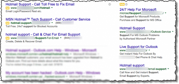 I searched and found a Hotmail support number, but is it