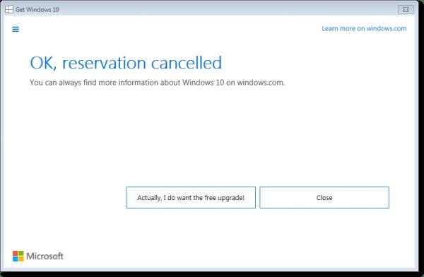 Windows 10 Cancelled
