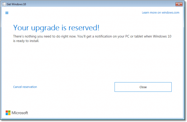 Windows 10 Reserved