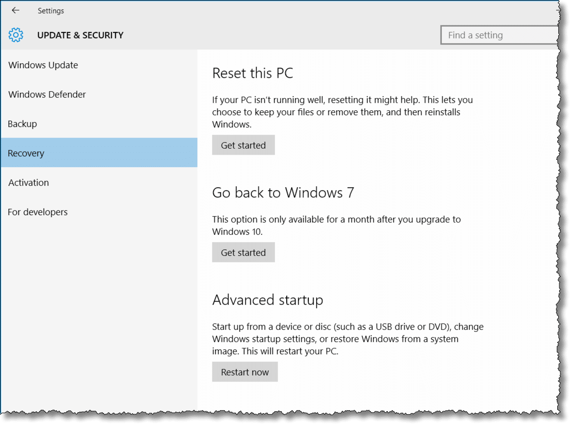 Four Ways to Go Back to Windows 7 or 8 from Windows 10 - Ask
