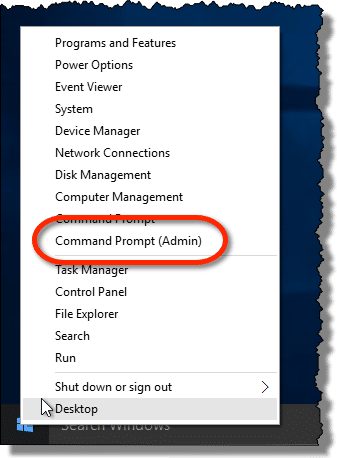 Run Command Prompt as Admin