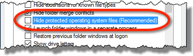 Hide Operating System Files