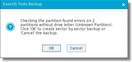 EaseUS Partition Error