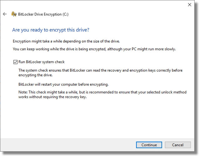 BitLocker Ready to Encrypt