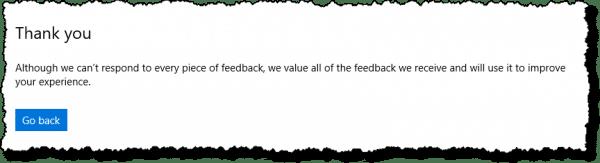 Feedback Hub - Thanks