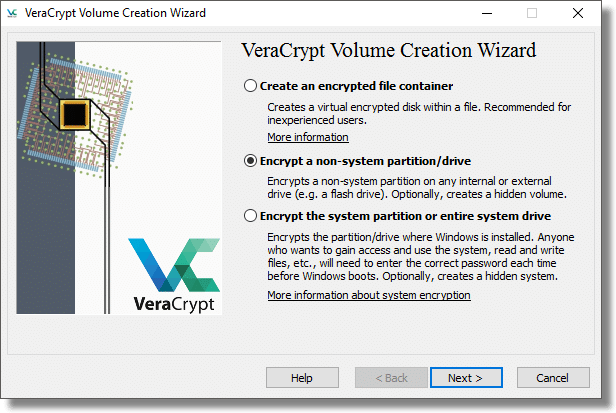 VeraCrypt Volume Creation Options