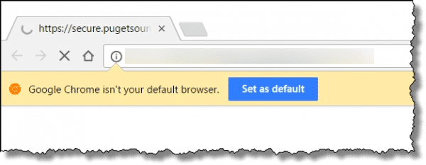 Not your default browser