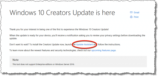 Get the Windows 10 Creators Update Now, If You Like - Ask Leo!