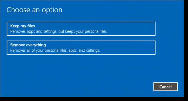 Reinstalling Windows 10 from Windows 10: