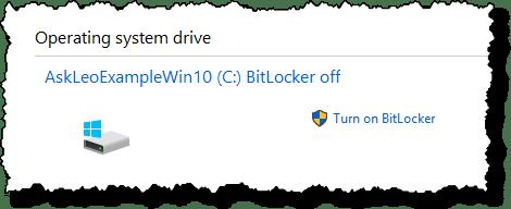 Bitlocker Off