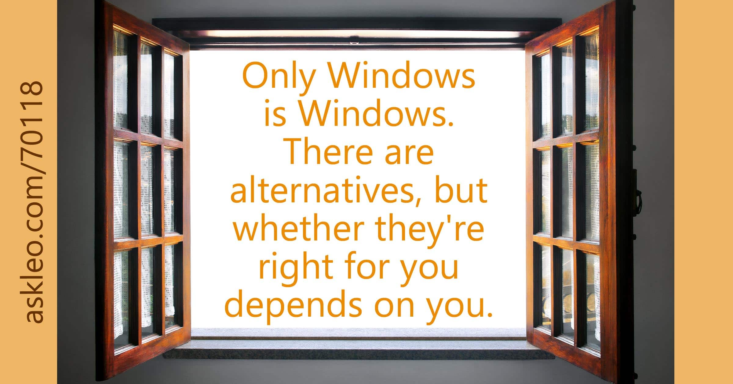 Is There a Real Alternative to Windows? - Ask Leo!