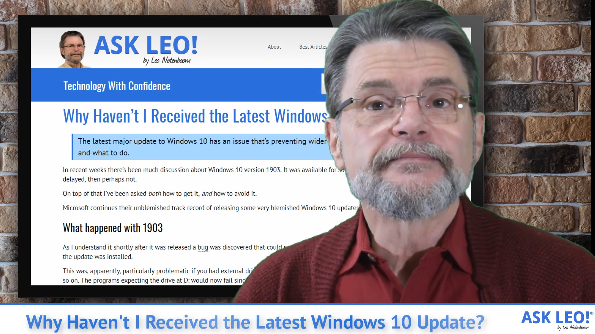 Why Haven't I Received the Latest Windows 10 Update? - Ask Leo!